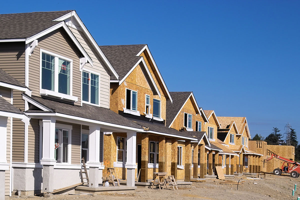 build-to-rent community of single-family rental houses