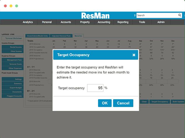 ResMan budget software