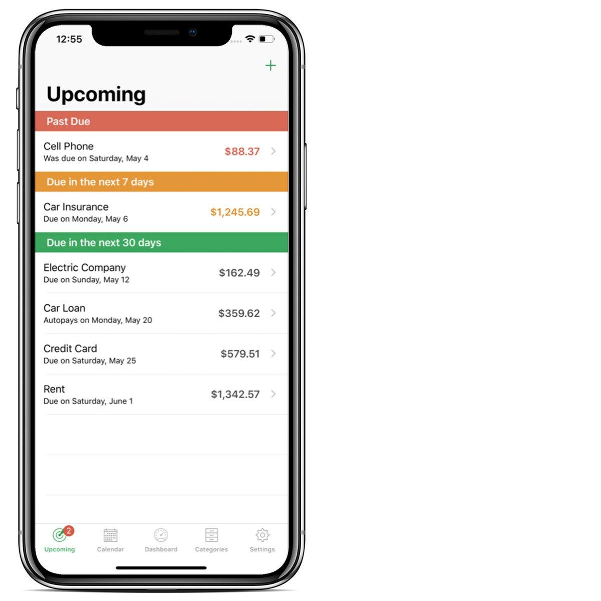Billminder homeowner app