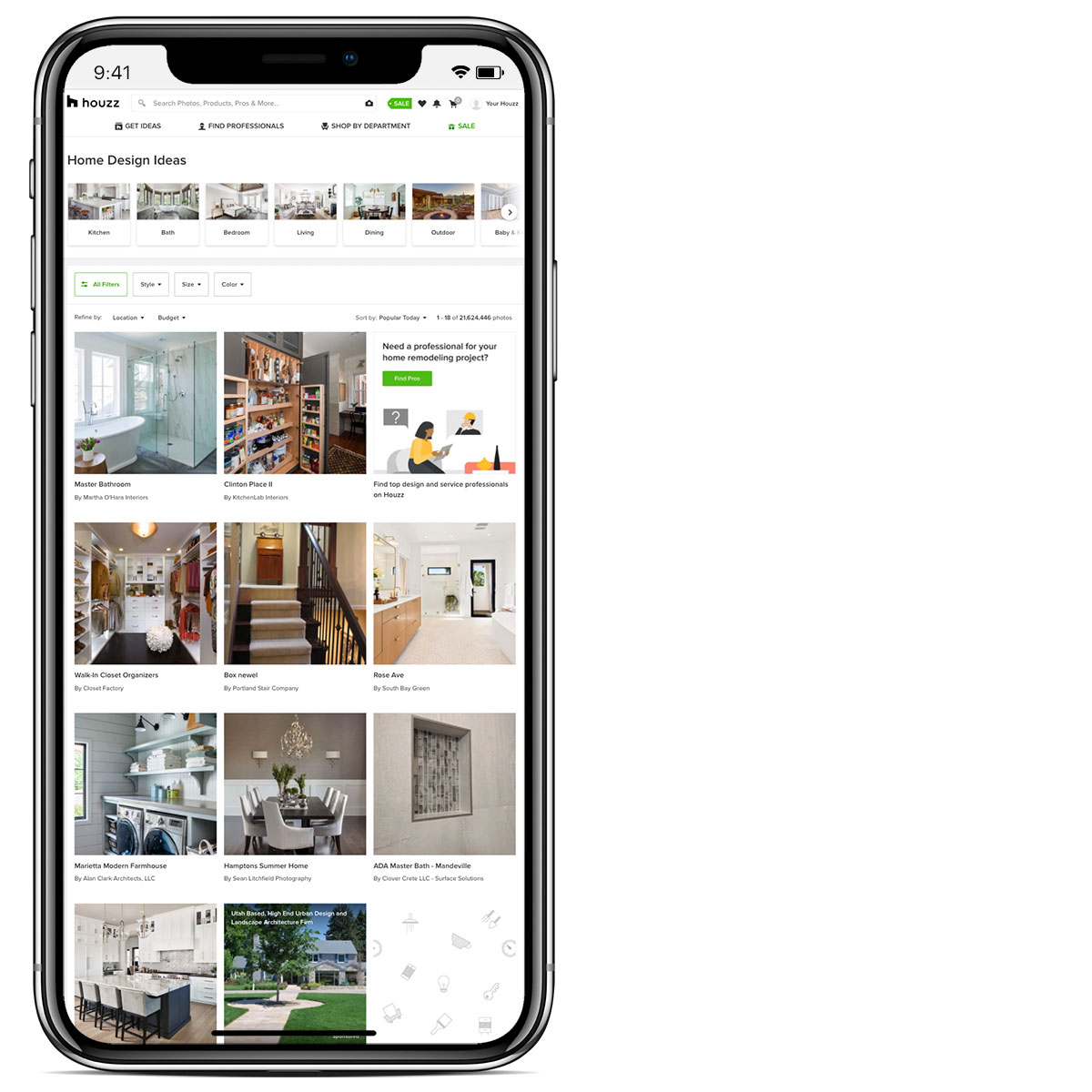 Houzz homeowner app
