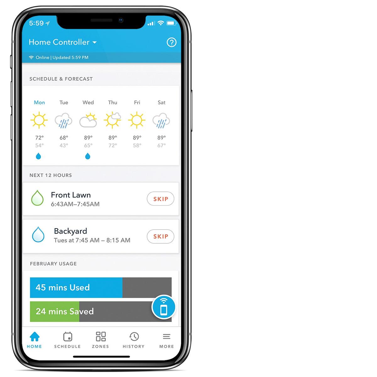 Rachio homeowner app