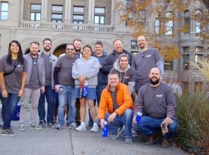 The TaskEasy team volunteering at Washington Gardens in Salt Lake City, Utah
