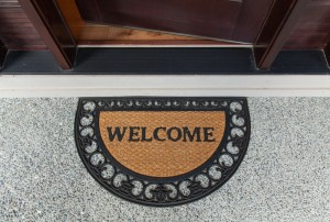 Welcome mat, 8 Easy Yard Care Tips to Help Sell Your Home